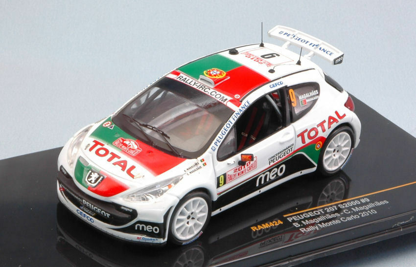 Peugeot 207 S2000  9 7th Monte Carlo 2010 B. Magalhaes C. Magalhaes 1 43 RAM424
