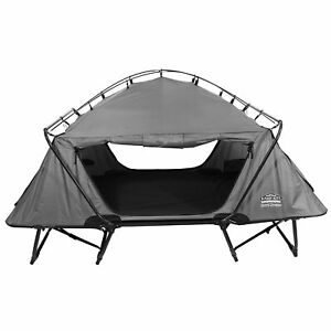 Kamp-Rite-2-Person-Folding-Off-the-Ground-Camping-Bed-Double-Tent-Cot-Gray
