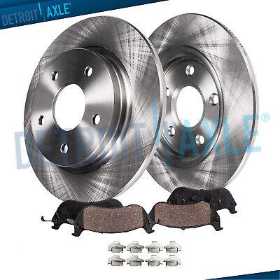 For 2011-2012 Ford Taurus Rear eLine Drill Slot Brake Rotors+Ceramic Brake Pads