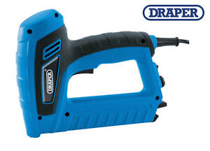 Draper electric mains stapler staple brad nail fixing for Pistola sparapunti elettrica parkside