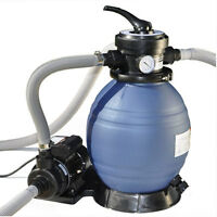 """12""""  Above Ground Pool Sand Filter System and Pump For Intex Pools"""