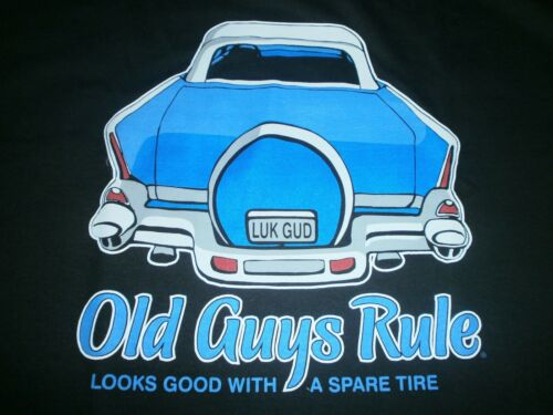 "OLD GUYS RULE "" LOOKS GOOD WITH A SPARE TIRE "" 57 CHEVY BEACH POCKETT SIZE XL"