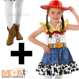 Image is loading Jessie-Tights-Toy-Story-Girls-Fancy-Dress-Kids-  sc 1 st  eBay & Jessie + Tights Toy Story Girls Fancy Dress Kids Cowgirl Disney ...