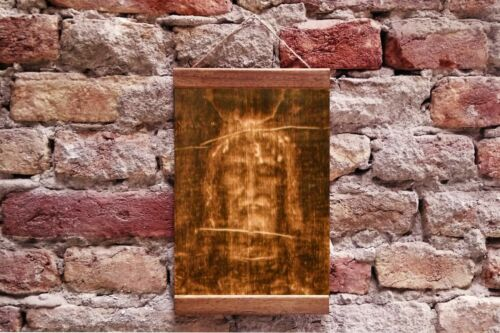 "Jesus Christ Face The Shroud of Turin Jesus Christ  Framed Canvas 11.8/"" x 15.7/"""