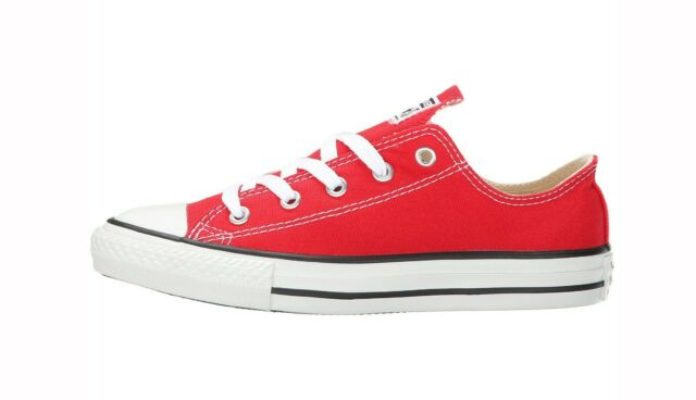 official images 2018 sneakers the latest CONVERSE All Star Low Chuck Taylor Canvas Shoes Red Medium Sneakers Youth  BOYS