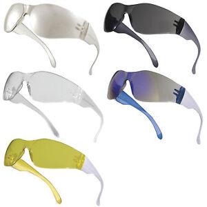Delta Plus BRAVA Safety Specs / Glasses (Various Colours) Single Lens Spectacle
