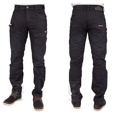 ETO Mens Jeans EM459 Darkwash Coated Tapered Leg Jeans UK Sizes 28-42