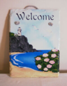 Lighthouse-on-a-Hill-Hand-stenciled-Welcome-Slate