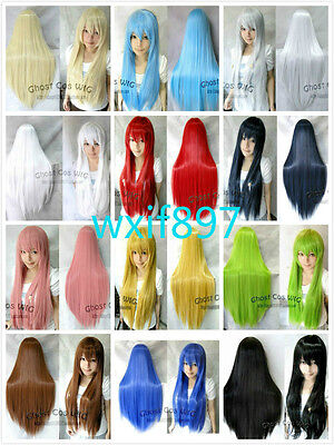 Hot Sell! Twelve Colors New Fashion Long Straight Cosplay Wigs Wig