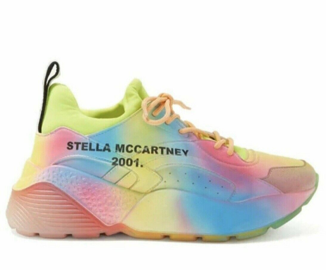 Original Stella McCartney Turnschuhe Eclypse Rainbow Regenbogen Neo Gr.40