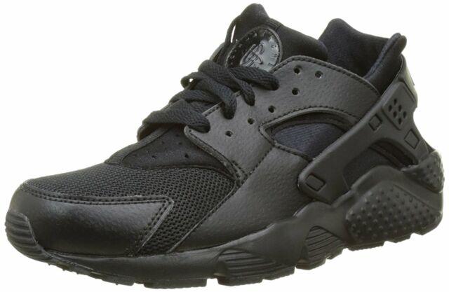 half off d9480 005af Nike Huarache Run Black Black-Black (GS) (654275 016)