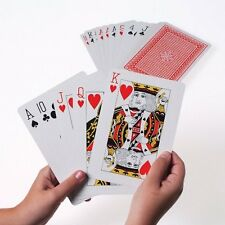 """Giant Extra Large Big Cards 5"""" X 7"""" Games Playing Jumbo Deck Huge Easy See Poker"""