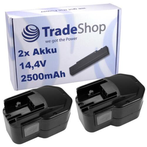 2x AKKU 14,4V 2500mAh für AEG BBS14-X BDSE14-STX BDSE14-T Super