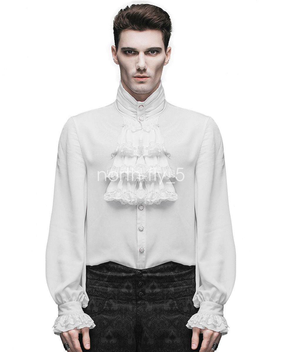 5b91239e Devil Fashion Men Gothic Steampunk Shirt Victorian Regency Aristocrat  Cosplay