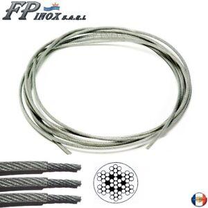 Couronne 10m Cable /Ø 3mm inox 316 Souple 7x7 inox 316 A4 Longueur 10m 20m 50m 70m 100m Rouleau 100m 250m