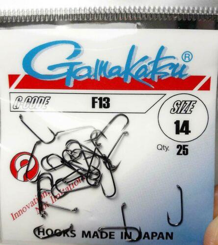 Gamakatsu F13 Größe #14 #12 #10 #8 Goldkopf nymphen Haken Fliegenbinden Japan