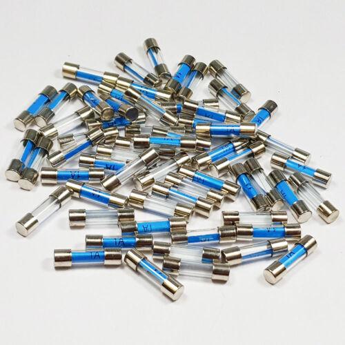 25 X 1 Amp Fusible de Vidrio 5x20mm 1 A Amperios rápido Blow Fusibles-a 5 X 20 mm