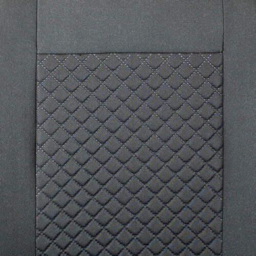 Negro pequeño patrón de cuadros para fundas para asientos mercedes vito asiento del coche referencia set 1+2