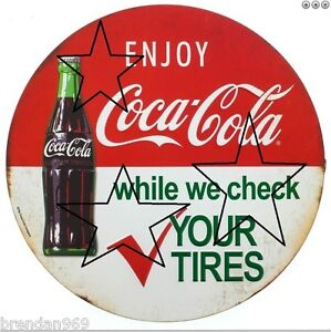 VINTAGE-COKE-COLA-GASOLINE-PETROL-DECAL-STICKER-LABEL-9-INCH-DIA-230-MM-HOT-ROD