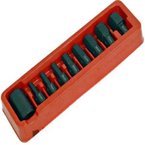 9pc-Sechskant-Inbusschluessel-Bit-Satz-1-2-034-Steckschluessel-6-19mm