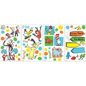 Image Is Loading Dr Seuss Dots Wall Decals Cat Hat Thing