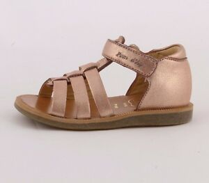 e387e17c2490 Pom d Api Poppy Strap rose gold leather girl s sandal with enclosed ...