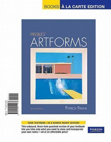 Prebles Artforms Books A La Carte Edition By Patrick Frank Sarah Preble And Patrick L Frank 2010 Ringbound