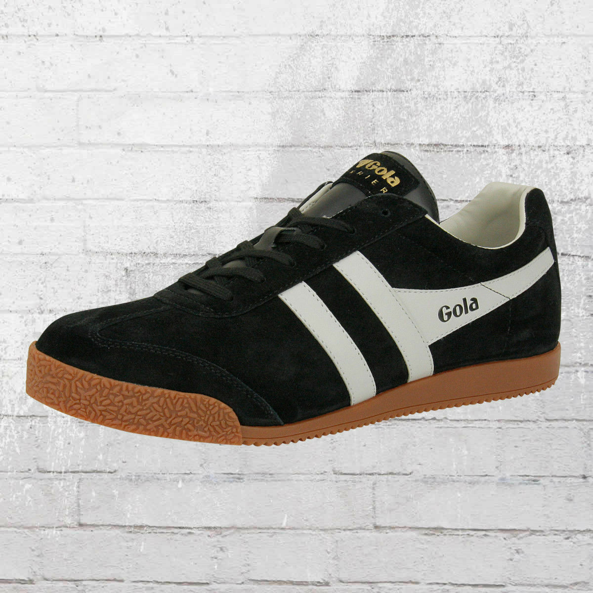 Gola Herren Schuhe Harrier Suede Retro Sneaker schwarz grau Männer Men Shoes