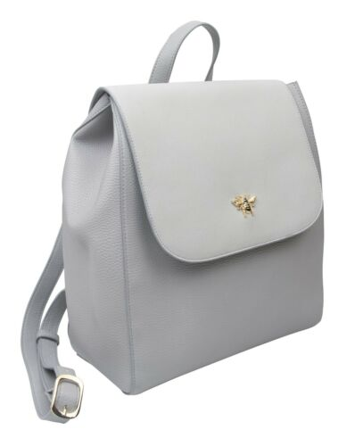 Grey Ladies Backpack with Gold bee embelishment by Alice Wheeler rucksack