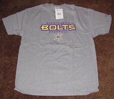 XFL BIRMINGHAM BOLTS FOOTBALL T-SHIRT CHAMPION SIZE XL GRAY NEW WITH TAGS NWT