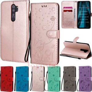 For Xiaomi Redmi 9 9A Note 9 8 Pro 9s 8T Embossed Wallet Flip Leather Case Cover