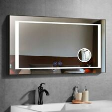 Dimmable Antifog LED Bathroom Mirror Vertical Horizontal Wall Bluetooth 48x36In