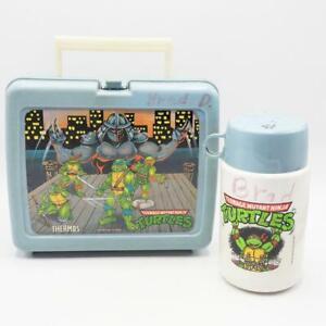 Vintage Teenage Mutant Ninja Turtles Lunch Box & Thermos 1990 Mirage Studios