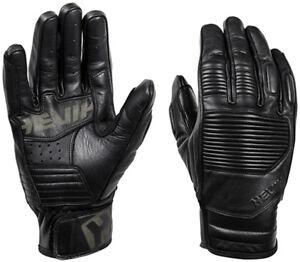 SûR Guanti Guanto Gloves Hevik In Pelle Garage Black Nero Taglia M Convient Aux Hommes, Femmes Et Enfants