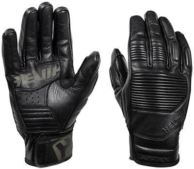 Guanti Guanto Gloves Hevik In Pelle Garage Black Nero Taglia M Ritardare La Senilità