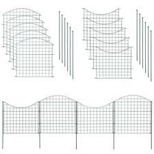 Steckzaun-Set 10 Elemente, Gesamtlänge von ca. 7,5 m