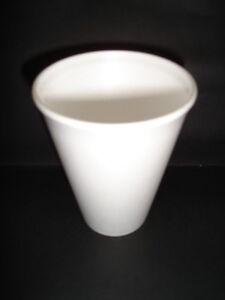 100 x Cups 12oz Foam / Polystyrene CATERING DRINKS SOUP TEA COFFEE  (0806/10)