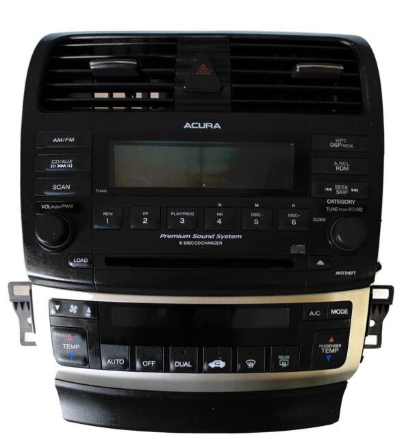 2004-2008 Acura TSX 6 Disc CD Changer Player XM Radio