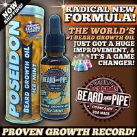 World's 1 Beard Growth Oil Formula - Potent Icemint - Reserve Small Batch