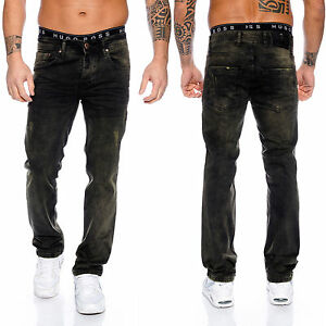 Rock-Creek-Herren-Jeans-Vintage-Used-Look-Denim-Schwarz-Herrenjeans-Hose-RC-2096