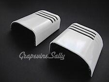 Tappan Vintage Stove Parts White Porcelain Enameled L&R Corner Backsplash Panels