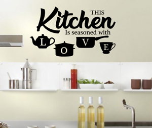 Wall Stickers Art Dining Room Kitchen Removable Decals DIY