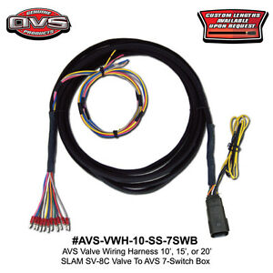 Details about AVS WIRING HARNESS 10' SLAM SPECIALTIES SV-8C VALVE TO on arc wiring panel, arc lights, arc valve,
