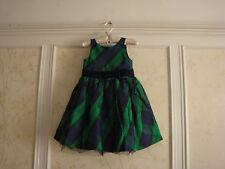 NWT $109  Janie And Jack  Evergreen Castle  Girls  Plaid  Silk  Dress  3  3T