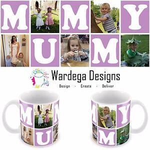 Personalised Mug Cup Mummy Mug 5 Photo Collage Birthday Gift Present