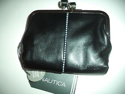 Nautica RFID Secure French Purse Wallet Black