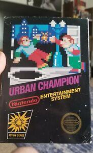 Urban Champion UNPUNCHED HANGTAB (Nintendo NES) CIB Black box Great Shape WATA