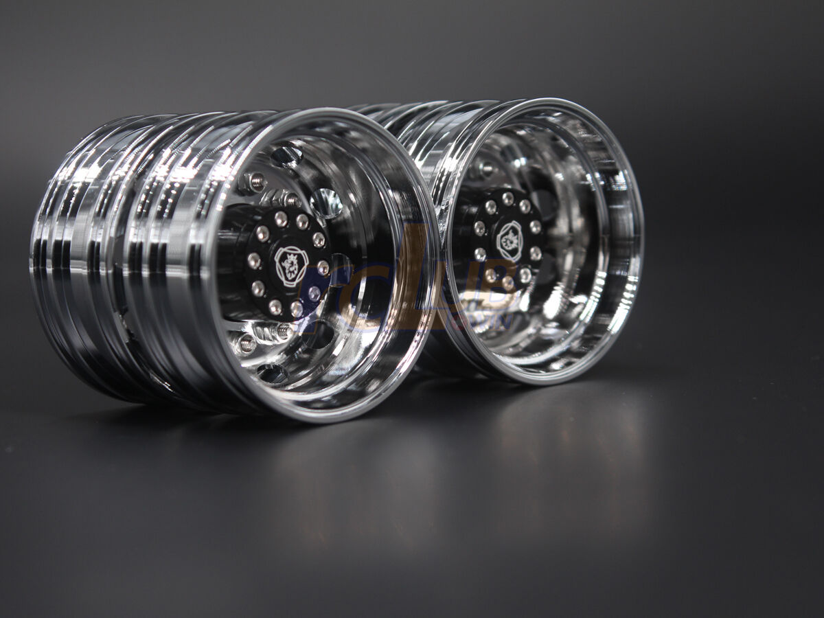 Tamiya 1 14 Trailer Rear ruedas  nuovo Electroplating ruedas For Scania R620 56323  seleziona tra le nuove marche come