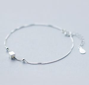 925-Sterlingsilber-Damen-Armband-Armbaender-Silber-Cube-Wuerfel-Kugel-Filigran-NEU