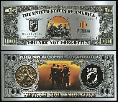 THE VIETNAM POW/MIA DOLLAR BILL (2/$1.00)
